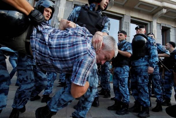 aggressive Polizei